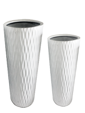 Pots Acrylic White - event & wedding decor rental montreal | home staging decor