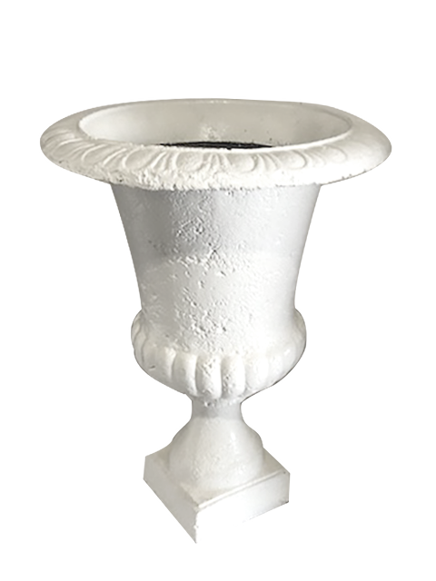 Urn Acrylic White - event & wedding decor rental montreal | home staging decor