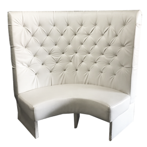 Louis XVI Big Banquette White Love Seat - event & wedding decor rental montreal