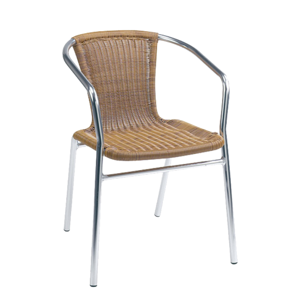 Wicker Outdoor Chair - event & wedding decor rental montreal | home staging decor