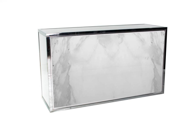 Chrome Bar Marble - event & wedding decor rental montreal | home staging decor