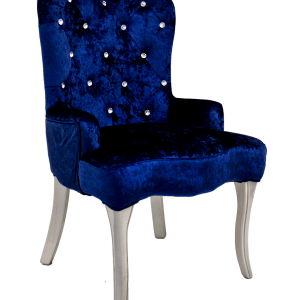 Velour Blue Chair - event & wedding decor rental montreal