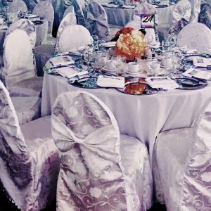 Chair Cover White - event & wedding decor rental montreal | home staging decor