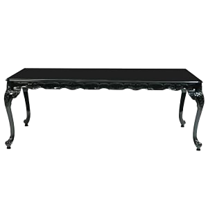 Baroque Rectangular Black Table - event & wedding decor rental montreal