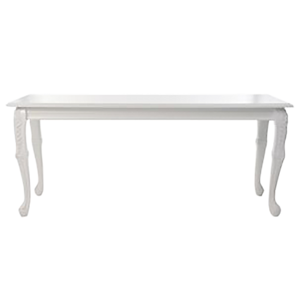 Baroque Rectangular White table - event & wedding decor rental montreal