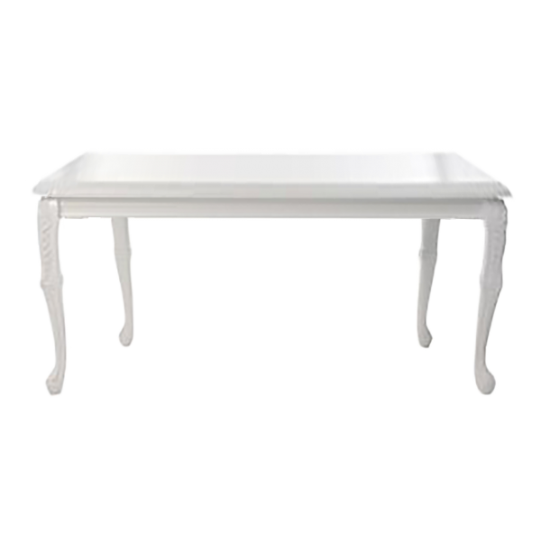 Baroque Square White Table - event & wedding decor rental montreal