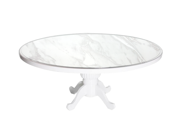Capecod Round Marble - event & wedding decor rental montreal | home staging decor rental
