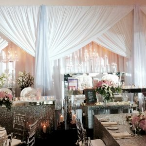 Draping Openings Triple - event & wedding decor rental montreal | home staging decor rental