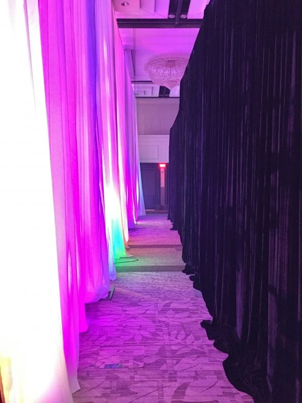 Draping Wall Install - event & wedding decor rental montreal | home staging decor rental