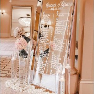 Mirror Silver Bead - event & wedding decor rental montreal